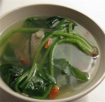 Pork liver soup with spinach cure myopia